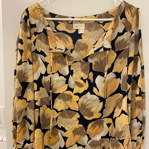 Anthropologie Floral Print Blouse, Size 2
